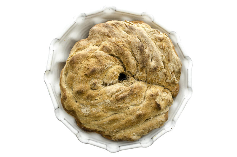 Premi?re vue d'un pain fait maison photographie stock libre de droits