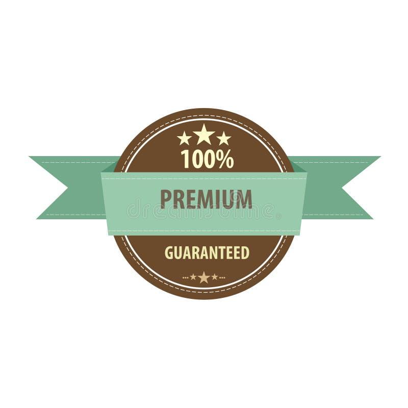Premia produktu gwaranci majcheru odznaki sztandaru znaczek royalty ilustracja