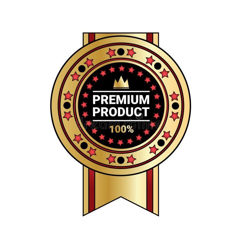 Premia produktu ilości majcheru Złoty medal Z faborkiem Odizolowywającym ilustracji