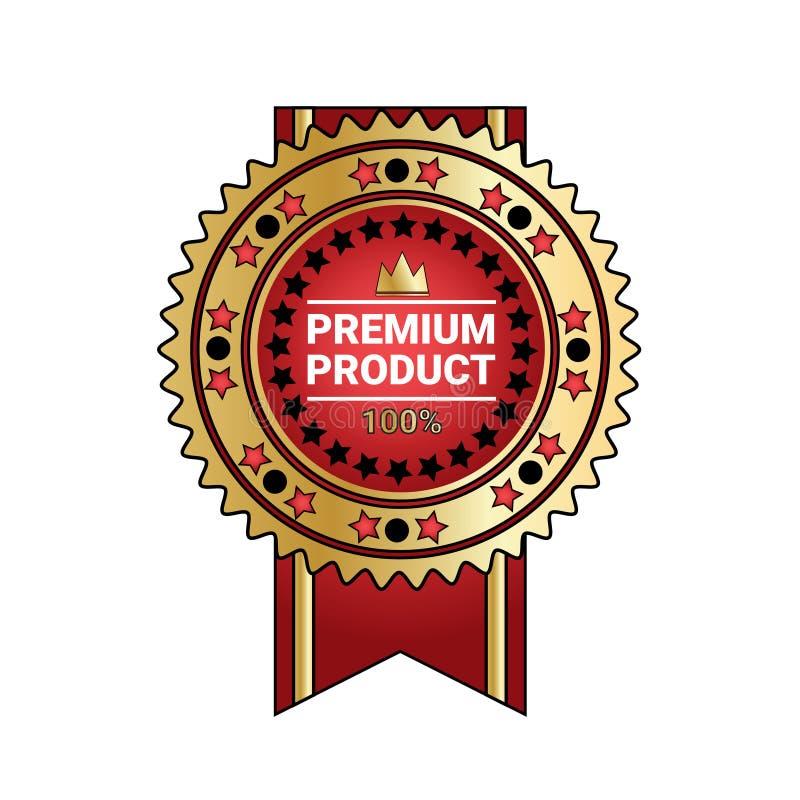 Premia produktu ilości odznaki Złota foka Z faborkiem Odizolowywającym ilustracji