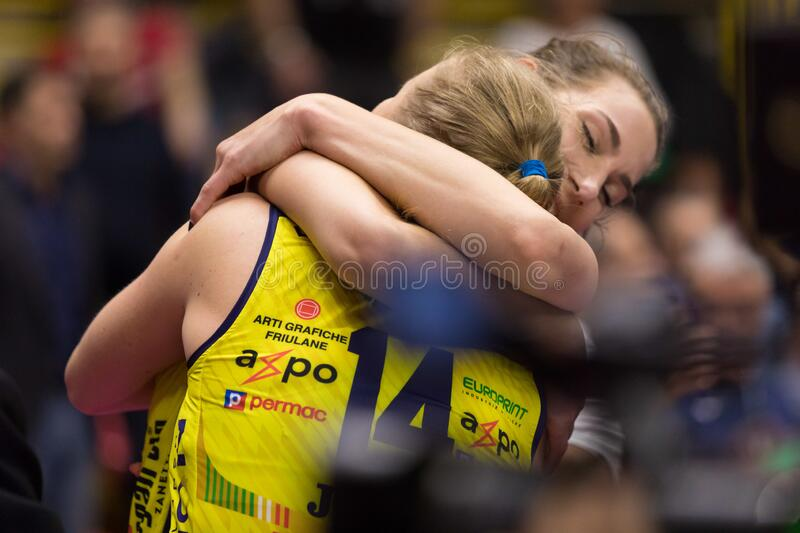 Volleyball Italian Women Cup Finals 2020 - Imoco Conegliano vs Unet E-work Yamamay Busto Arsizio royalty free stock image