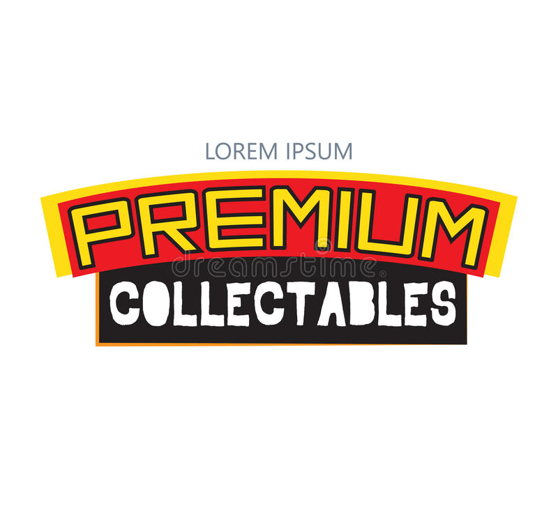 Premie Collectibles Logo Design vector illustratie