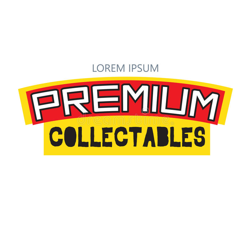 Premie Collectibles Logo Design royalty-vrije illustratie