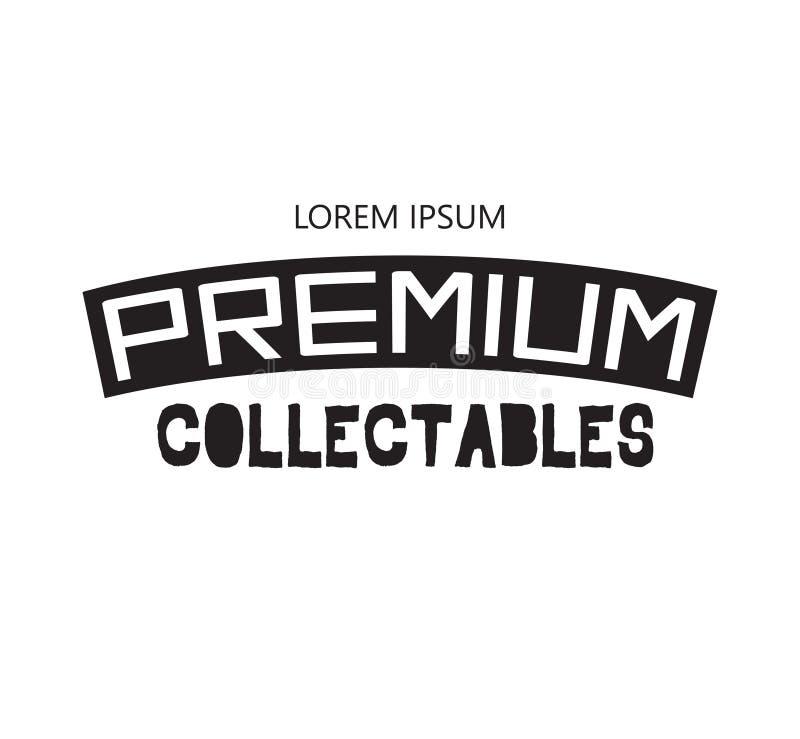 Premie Collectibles Logo Design stock illustratie
