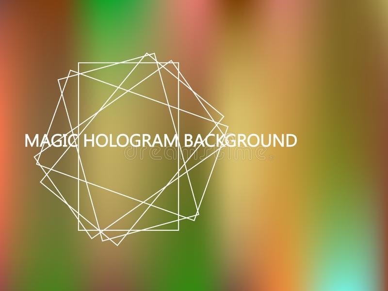 Premie Holografische Achtergrond royalty-vrije illustratie