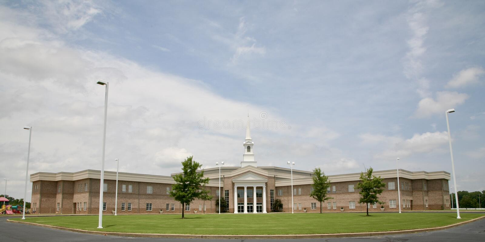 Premier Baptist Church, Millington, paysage de TN image stock