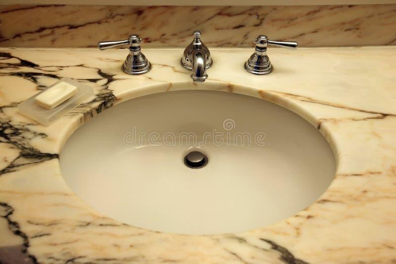 Premier bassin de marbre images libres de droits