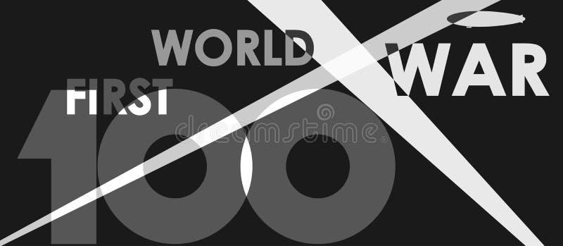 Premier centenaire de guerre mondiale illustration de vecteur