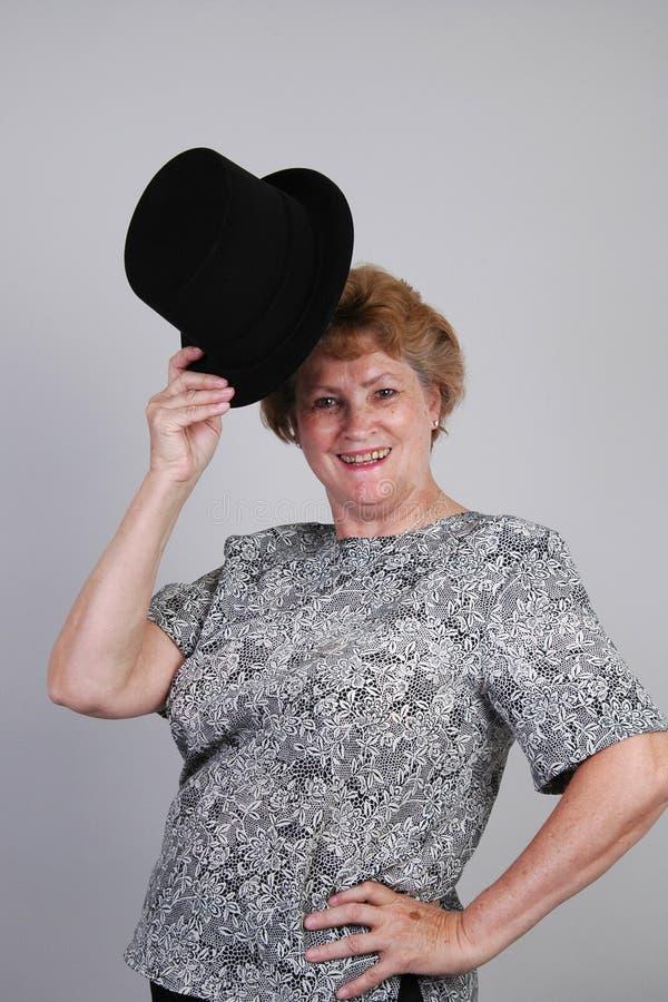 Download Premier chapeau image stock. Image du rouge, older, célébration - 744127