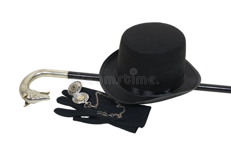 Premier chapeau et canne photos stock