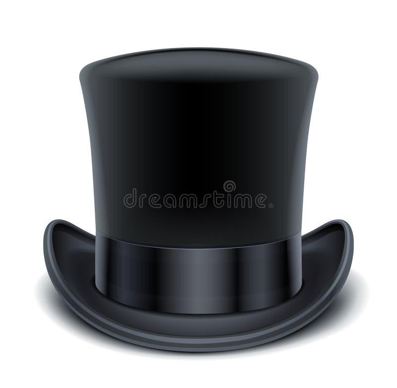 Premier chapeau noir illustration libre de droits