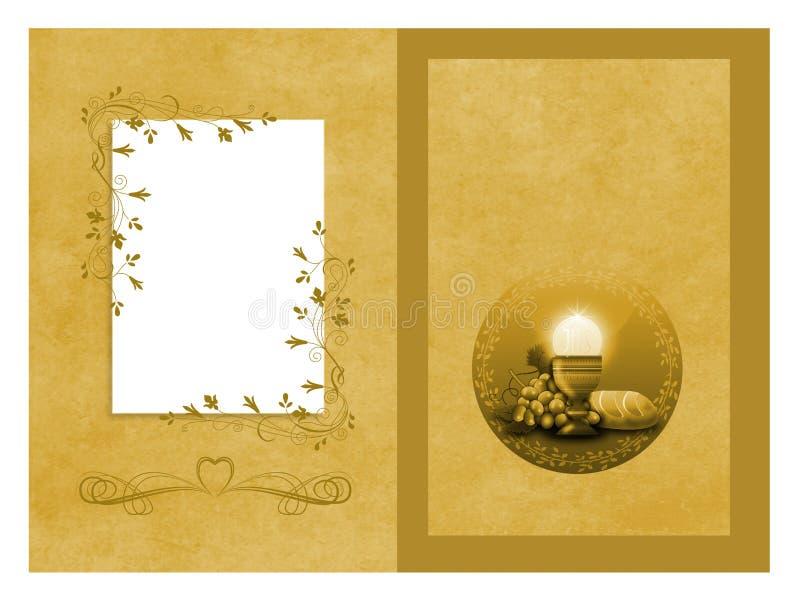 Premier copyspace de carte de communion illustration stock