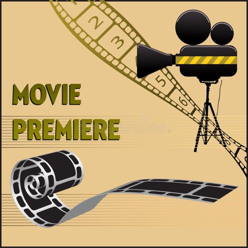 Premier de la película stock de ilustración