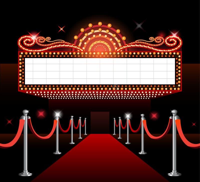 Premier do filme do sinal do teatro ilustração royalty free
