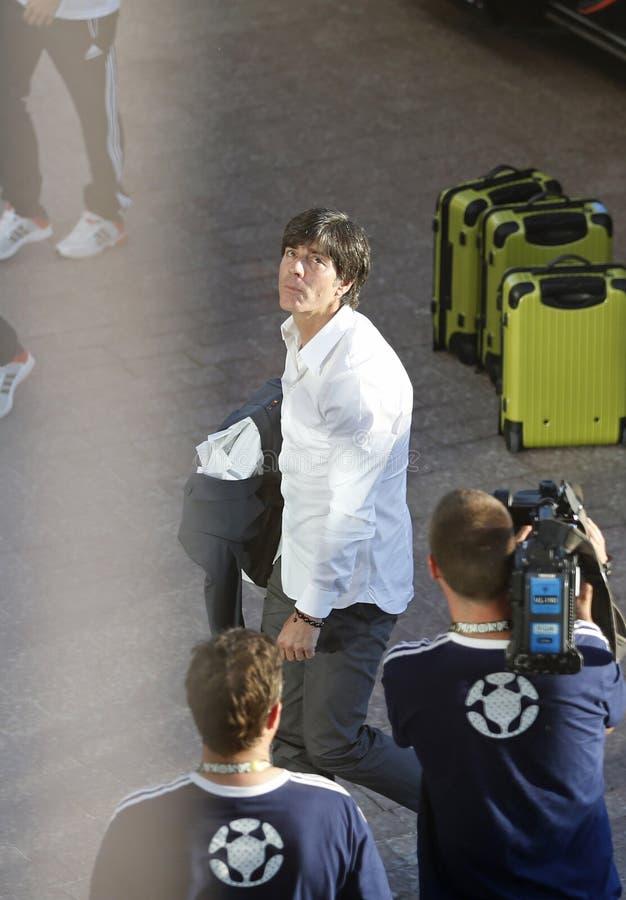 Premier entraîneur Joachim d'équipe nationale de l'Allemagne inférieur photo libre de droits