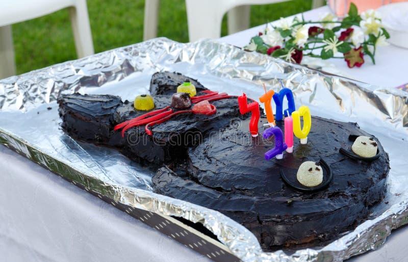 Premier gâteau d'anniversaire photos stock