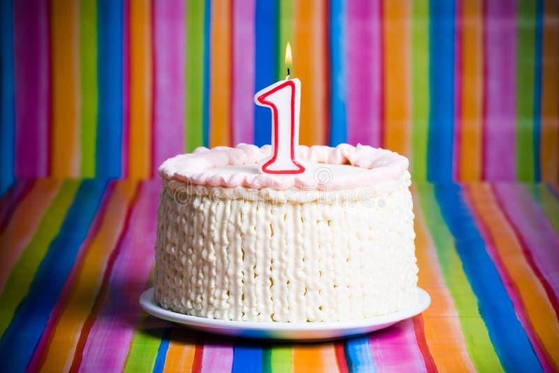 Premier gâteau de célébration photos stock