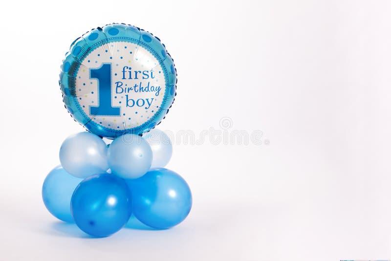 Premier garçon d'anniversaire images stock