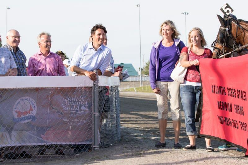 Premier ministre canadien Justin Trudeau à la voie de course photographie stock