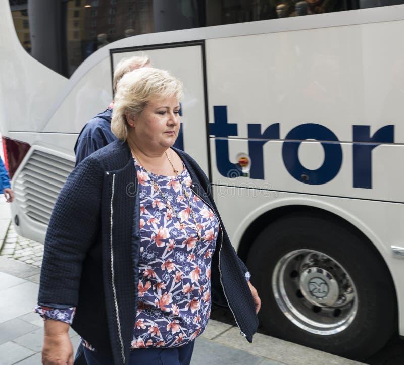 Premier ministre d'Erna solberg de la Norvège photographie stock