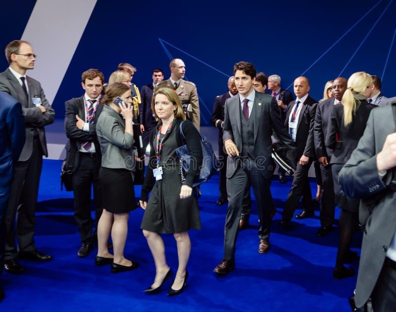 Premier ministre de Canada Justin Trudeau au sammit de l'OTAN images libres de droits