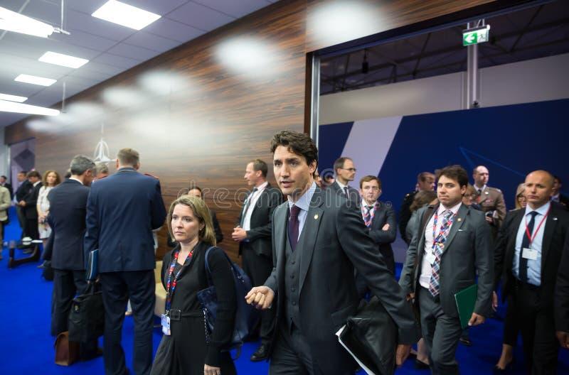 Premier ministre de Canada Justin Trudeau sur le sammit de l'OTAN photo stock