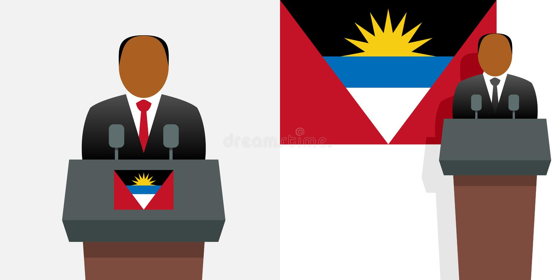 Premier ministre de l'Antigua-et-Barbuda illustration stock
