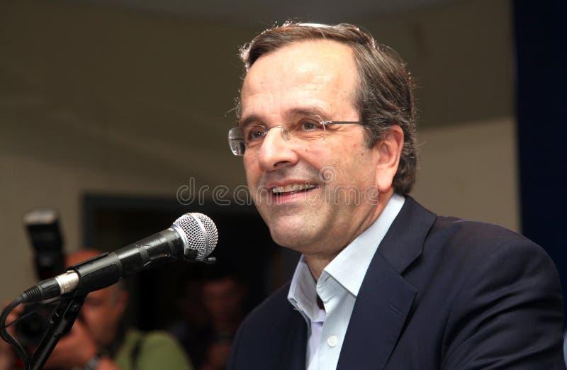 Premier ministre des Samaras de la Grèce Antonis image libre de droits