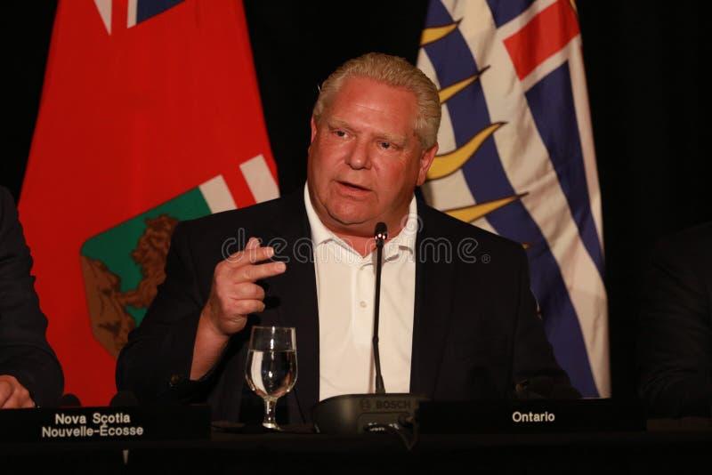 Premier ministre Doug Ford d'Ontario photo stock