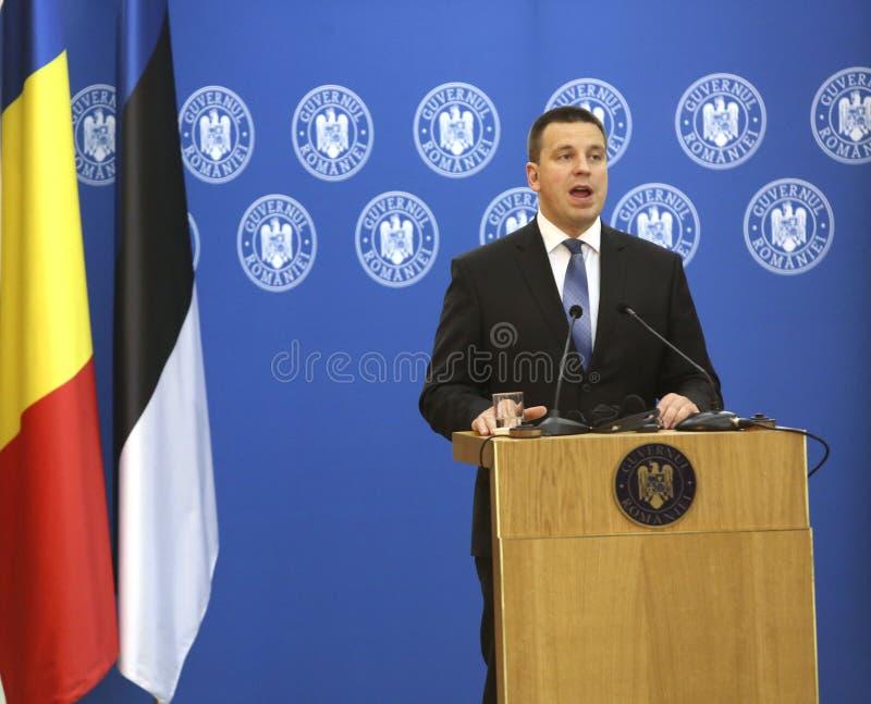 Premier ministre estonien Juri Ratas image stock