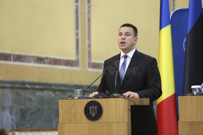 Premier ministre estonien Juri Ratas images stock