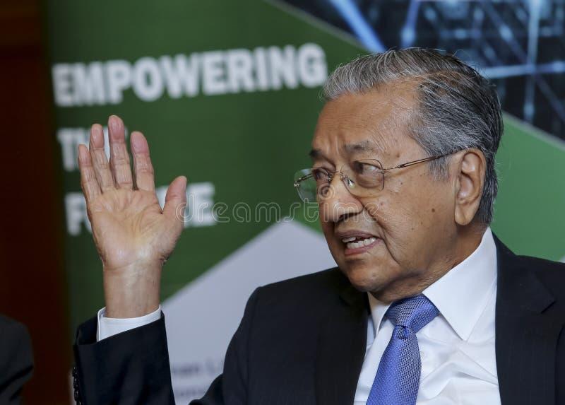 Premier ministre Mahathir Mohamad de la Malaisie photographie stock libre de droits