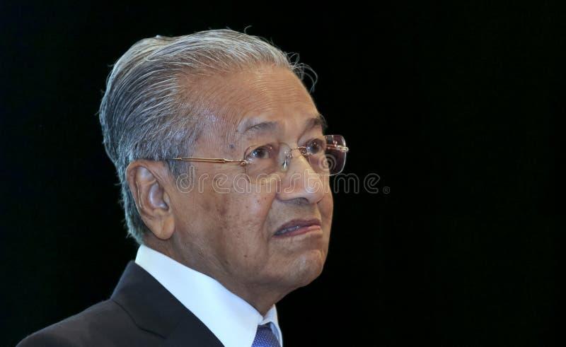 Premier ministre Mahathir Mohamad de la Malaisie images libres de droits