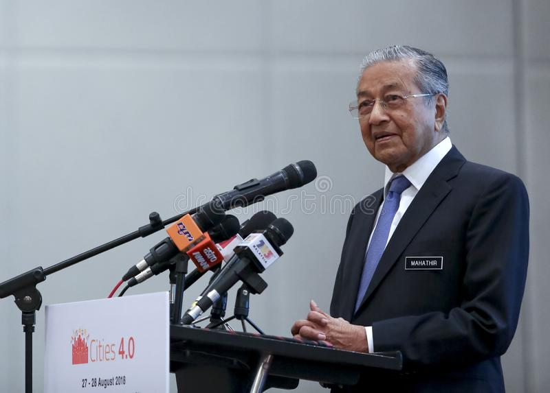 Premier ministre Mahathir Mohamad de la Malaisie photographie stock