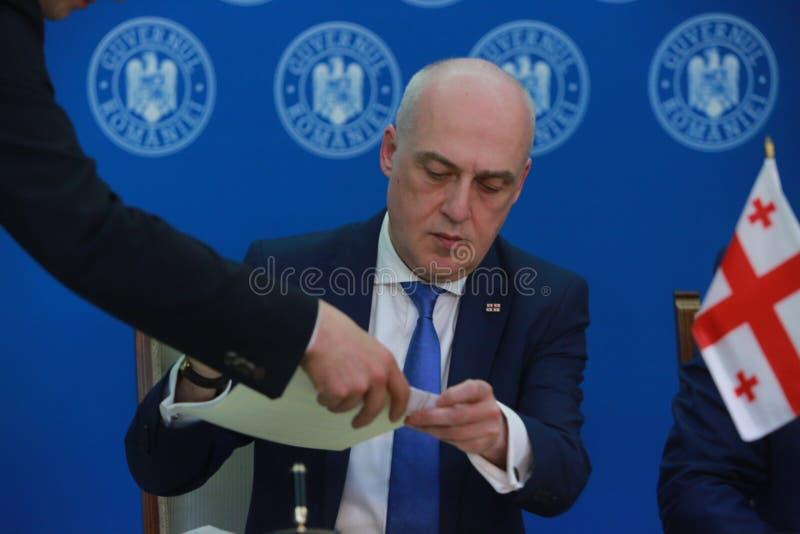Premier ministre roumain Viorica Dancila photographie stock