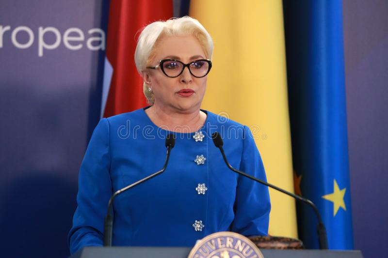 Premier ministre roumain Viorica Dancila photos libres de droits