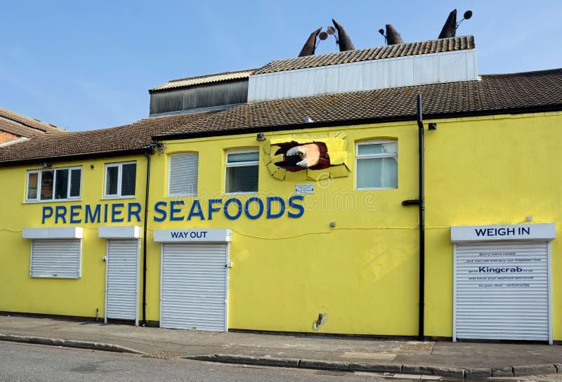 Premier ministre Seafoods, Grimsby, R-U images libres de droits