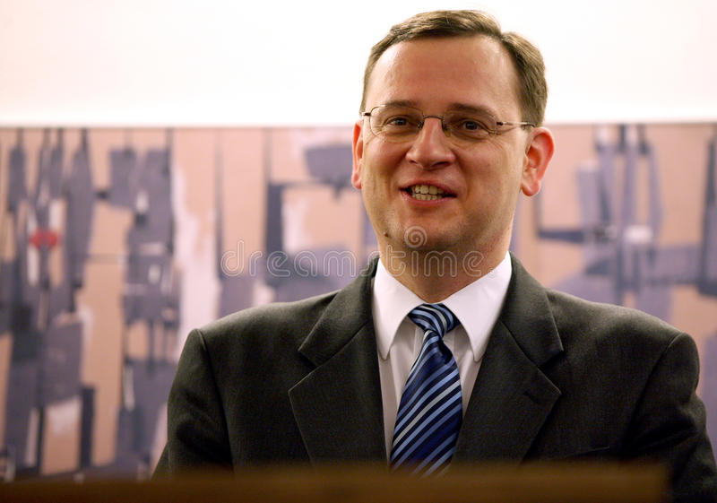 Premier ministre tchèque neuf Petr Necas image libre de droits