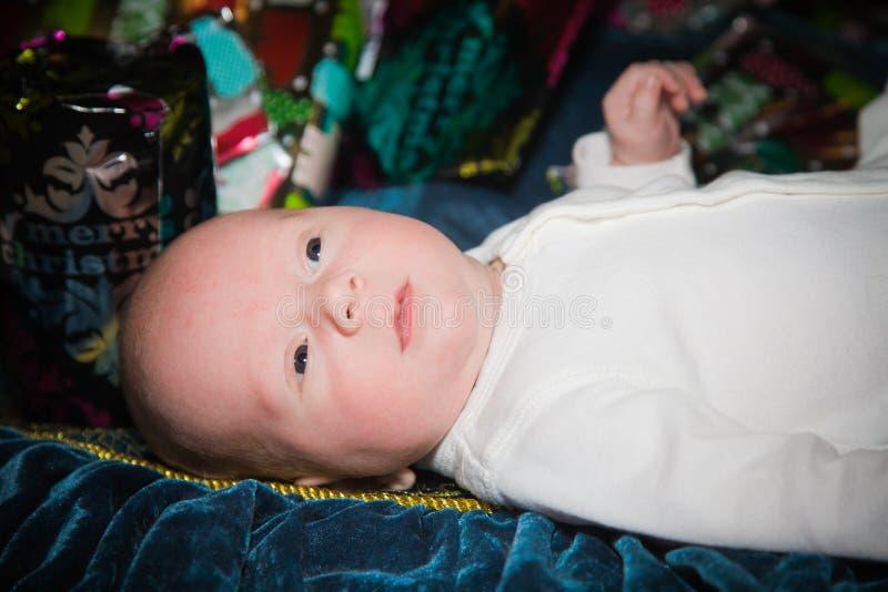 Premier Noël du bébé images stock