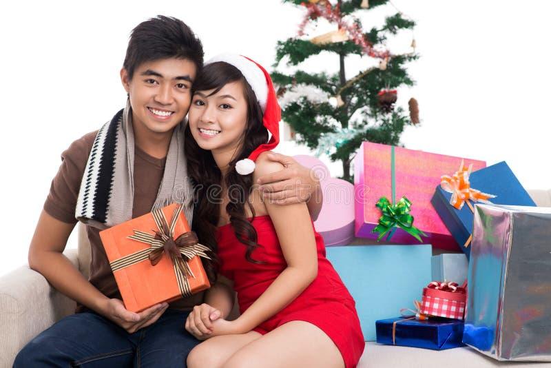 Premier Noël ensemble images stock