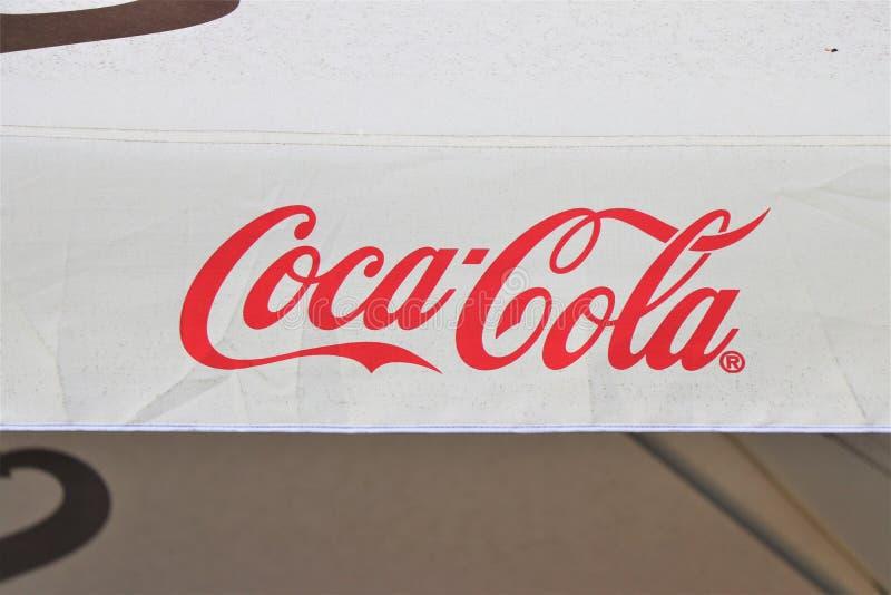 Premier plan d'un signage de coca-cola photos libres de droits