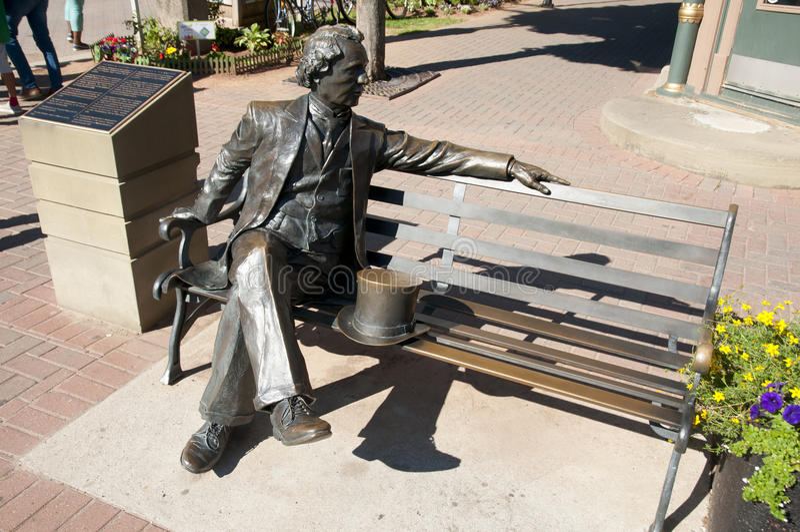 Premier premier ministre Sir John A Macdonald Statue - Charlottetown - Canada image stock