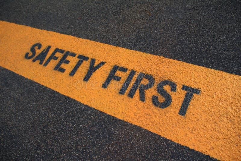 Premier signe de sécurité photo libre de droits