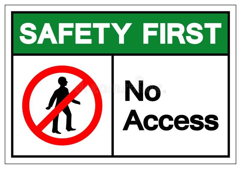 Premier signe de symbole d'Access de sécurité, illustration de vecteur, isolat sur le label blanc de fond EPS10 illustration de vecteur