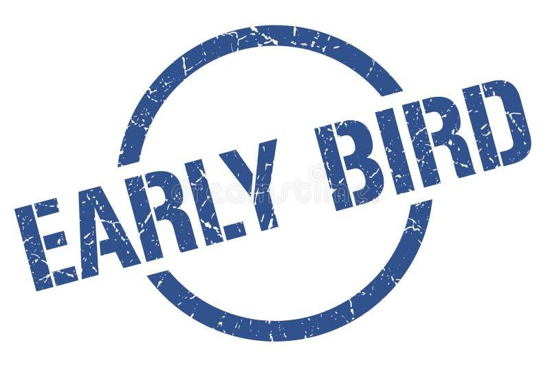 Premier timbre d'oiseau illustration stock