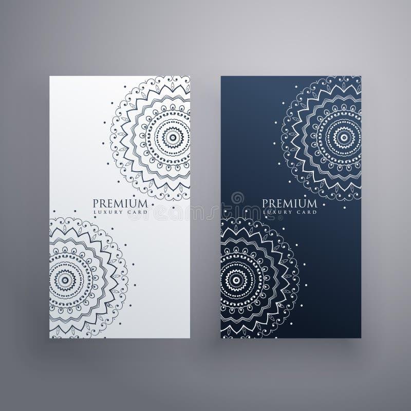Premiereeks ontwerpen van de mandalakaart royalty-vrije illustratie