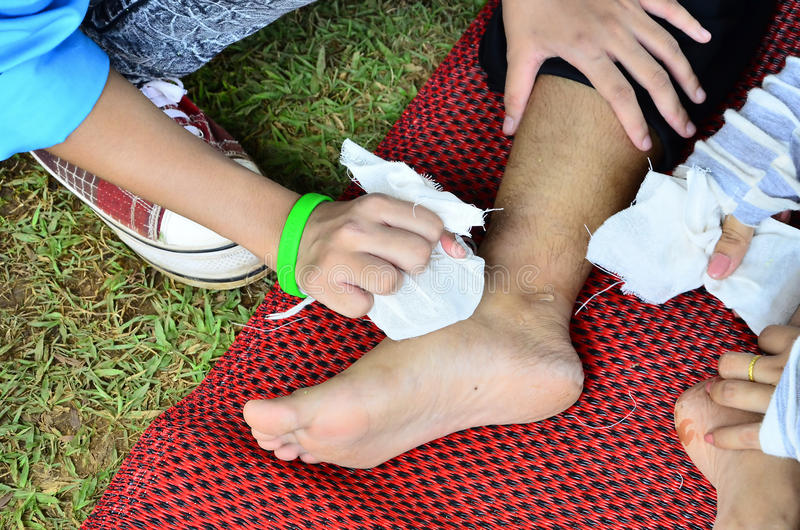 Premiers secours photo libre de droits