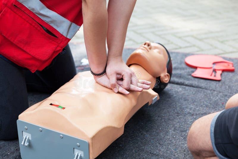 Premiers secours et formation de CPR image libre de droits