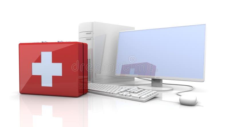 Premiers soins d'ordinateur illustration stock