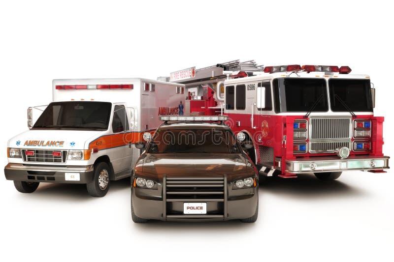 Premiers véhicules de répondeur illustration de vecteur